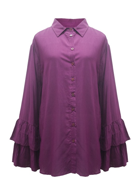 Camisa  Lisa M/Doble Volado