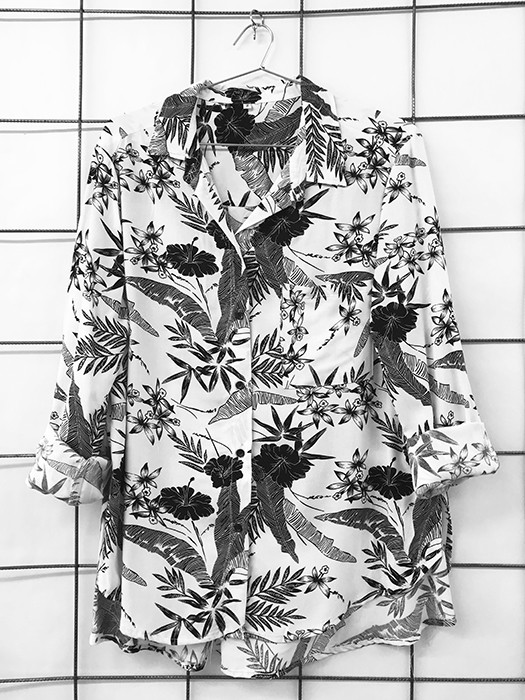 Camisa Over Estampa Flores