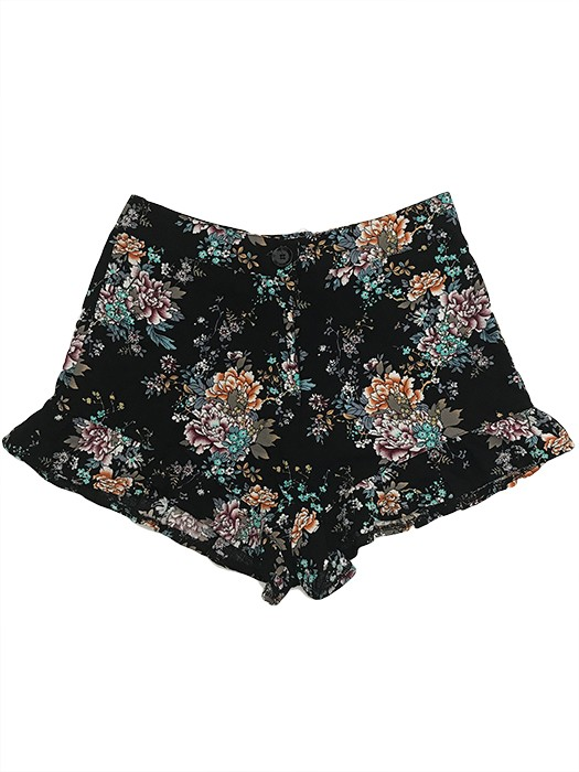 Short Estampado con Volados
